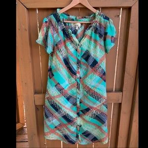 Anthropologie knee-length dress with tie. Size 4.